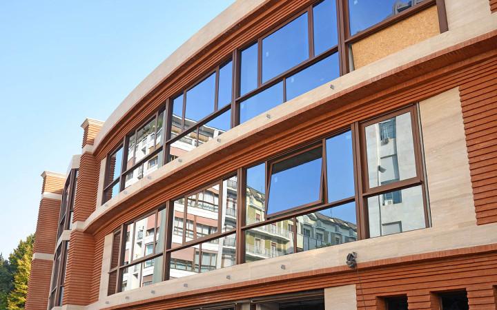 Mattoni faccia a vista - nuova sede del Palazzo di giustizia di Milano