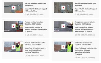 Facciate ventilate in mattoni: su HALFEN.it i video di Candela Costruzioni