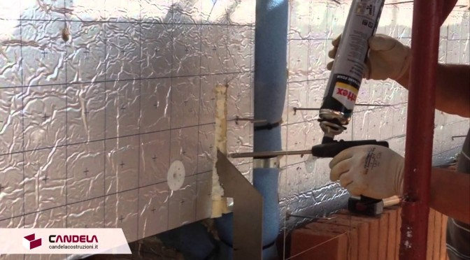 Applicazione di schiuma in poliuretano